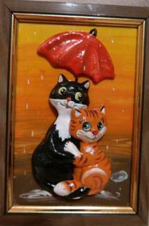 Кошка с зонтом