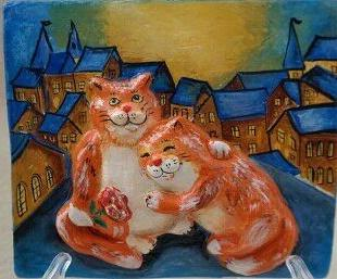 Кот и кошка