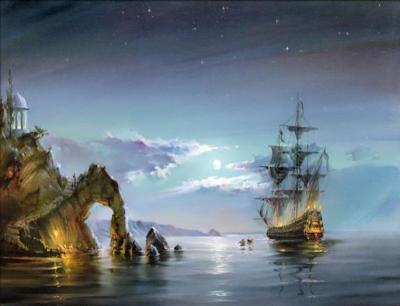 """Картина по номерам """"Корабль в море"""" 40*50 см"""