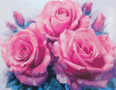 """Картина по номерам """"Розы"""" 40*50 см"""