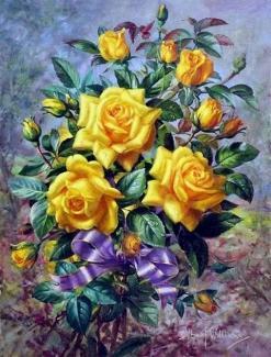 """Картина по номерам """"Цветы"""" 40*50 см"""