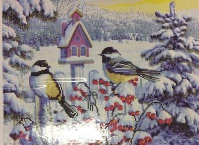 """Алмазная мозаика """"Снегири"""" 40*50 см"""