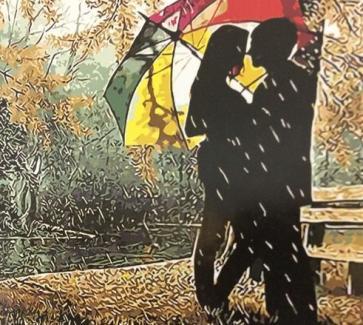 """Картина по номерам """"Под зонтом"""" 40*50 см"""