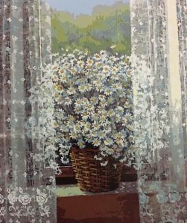 "Картина по номерам ""Ромашки на окне"" 40*50 см"