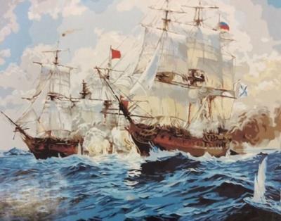 """Картина по номерам """"Корабли"""" 40*50 см"""