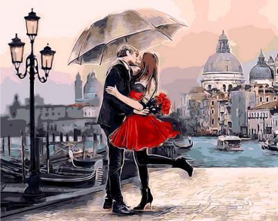 """Картина по номерам """"Венецианский поцелуй"""" 40*50 см"""