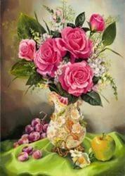 """Картина по номерам """"Прекрасный букет роз"""" 40*50 см"""