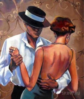 "Картина по номерам ""Танго"" 40*50 см"