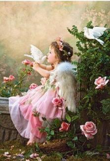 """Картина по номерам """"Поцелуй ангела"""" 40*50 см"""