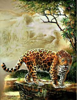 """Картина по номерам """"Ягуар"""" 40*50 см"""