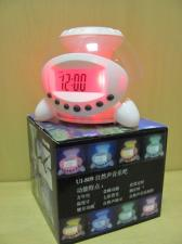 """Часы-будильник """"НЛО""""с ночником и звуками природы-9 функций"""