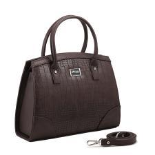 Каркасная женская сумка/коричневый