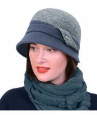 Шляпа женская/меланж-светлый джинс
