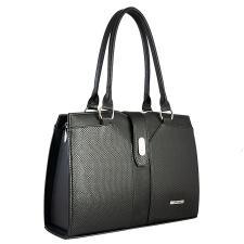 Каркасная деловая женская сумка/черный