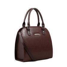 Женская каркасная сумка/коричневый