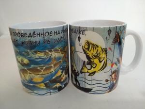 Кружка 350мл Рыбалка-Время на рыбалке...