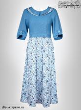 Платье бохо/ комбинированное