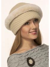 Женская шапка З-107 Бежевый